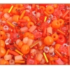 Seedbead Bugles Ponybead Assorted Orange